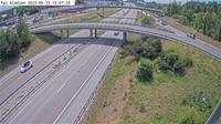 Bisslinge: Tpl Gl�djen (Kameran �r placerad p� E Uppsalav�gen i h�jd med trafikplats Gl�djen och �r riktad mot Stockholm) - Dia