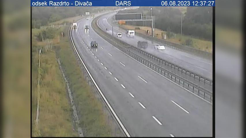 Webcam Razdrto: A1/E61/E70, Ljubljana − Koper, odsek − Di