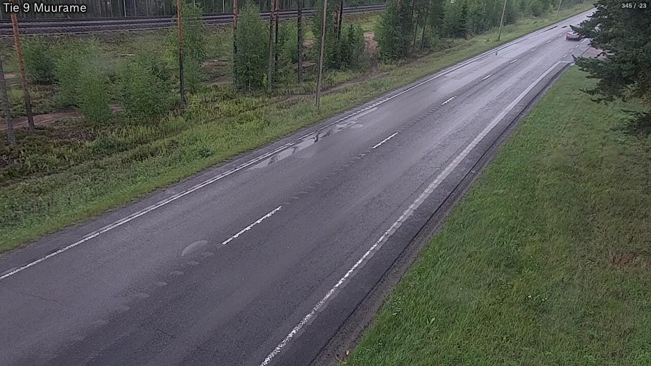 Webkamera Muurame: Tie 9 − Tampereelle