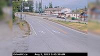 Rossland > East: Hwy B at Hwy  near the - Weigh Scale, looking east on Hwy - Day time