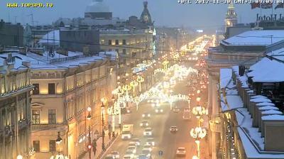 Webkamera St Petersburg: Невский проспект со звуком