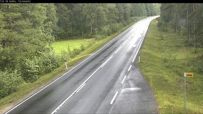 Daylight webcam view from Kuhmo: Tie 76 − Tervasalmi − Kuhmoon
