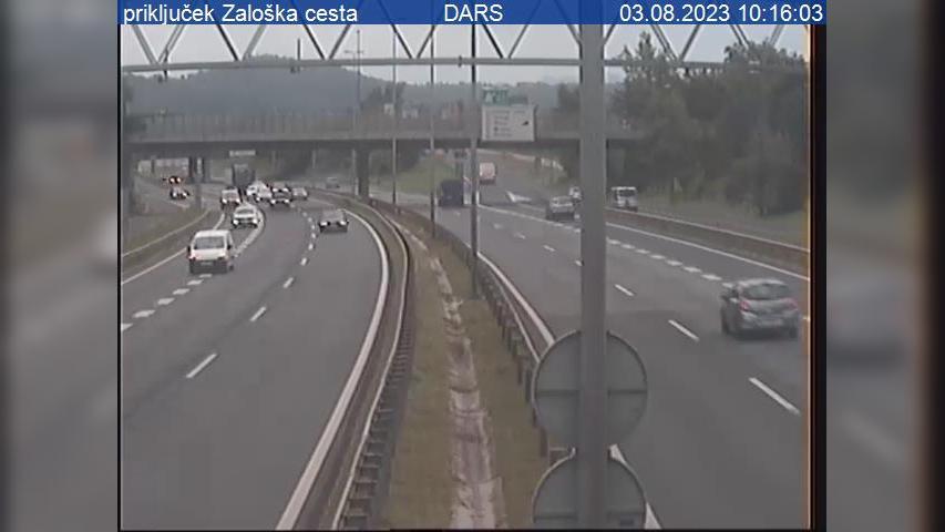 Webcam Fužine: A1/E57 − vzhodna obvoznica, priključek Zal