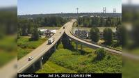 Delta > South: , Hwy , southbound approach to Alex Fraser Bridge, looking south - Overdag