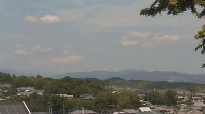Vue webcam de jour à partir de Noboriōji: The sky in south Kyoto seen from world heritage ancient capital − of