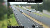 Caboolture: Bruce Highway - Burpengary, Station Road interchange (looking North) - Dagtid
