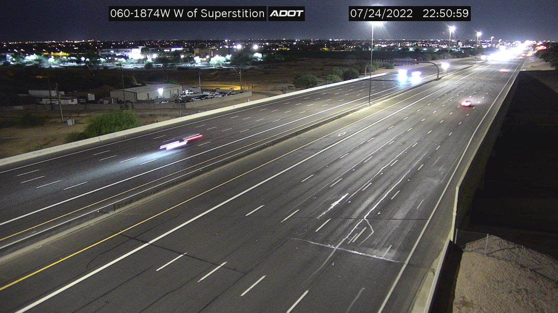 Webcam Leisure World: US 60 West of Superstition