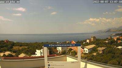 Vue webcam de jour à partir de Utjeha › North West: Uvala maslina Utjeha − Adriatic Sea