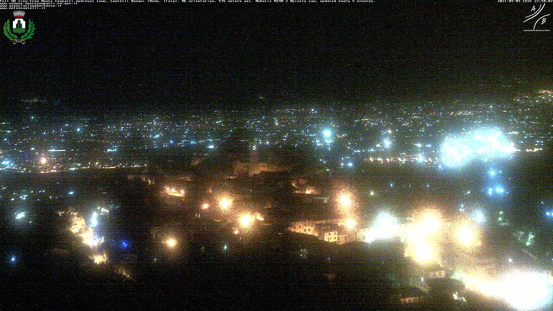 Webcam Monte Compatri: Medieval town