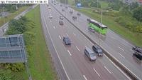 Bergshamra: Trafikplats Fr�sunda (Kameran �r placerad p� E Uppsalav�gen i h�jd med trafikplats Fr�sunda och �r riktad mot Stockholm) - Jour