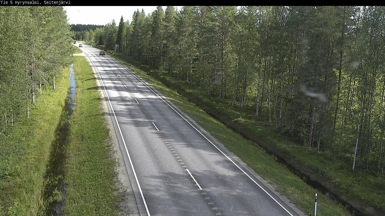 Webkamera Hyrynsalmi: Tie 5 − Seitenjärvi − Kuusamoon