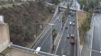Barcelona: Ronda de Dalt (looking to East) leaving BCN (after Meridiana - El día