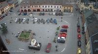 Jilemnice: Masarykovo n�m?st� - the Masaryk square - Overdag