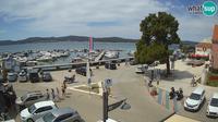 Last daylight view from Biograd na Moru: city square