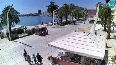 Daylight webcam view from Split: Riva of Croatian Revival
