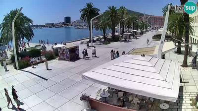 Vue webcam de jour à partir de Split: Riva of Croatian Revival