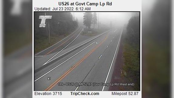 Webcam Government Camp: US26 at Govt Camp Lp Rd
