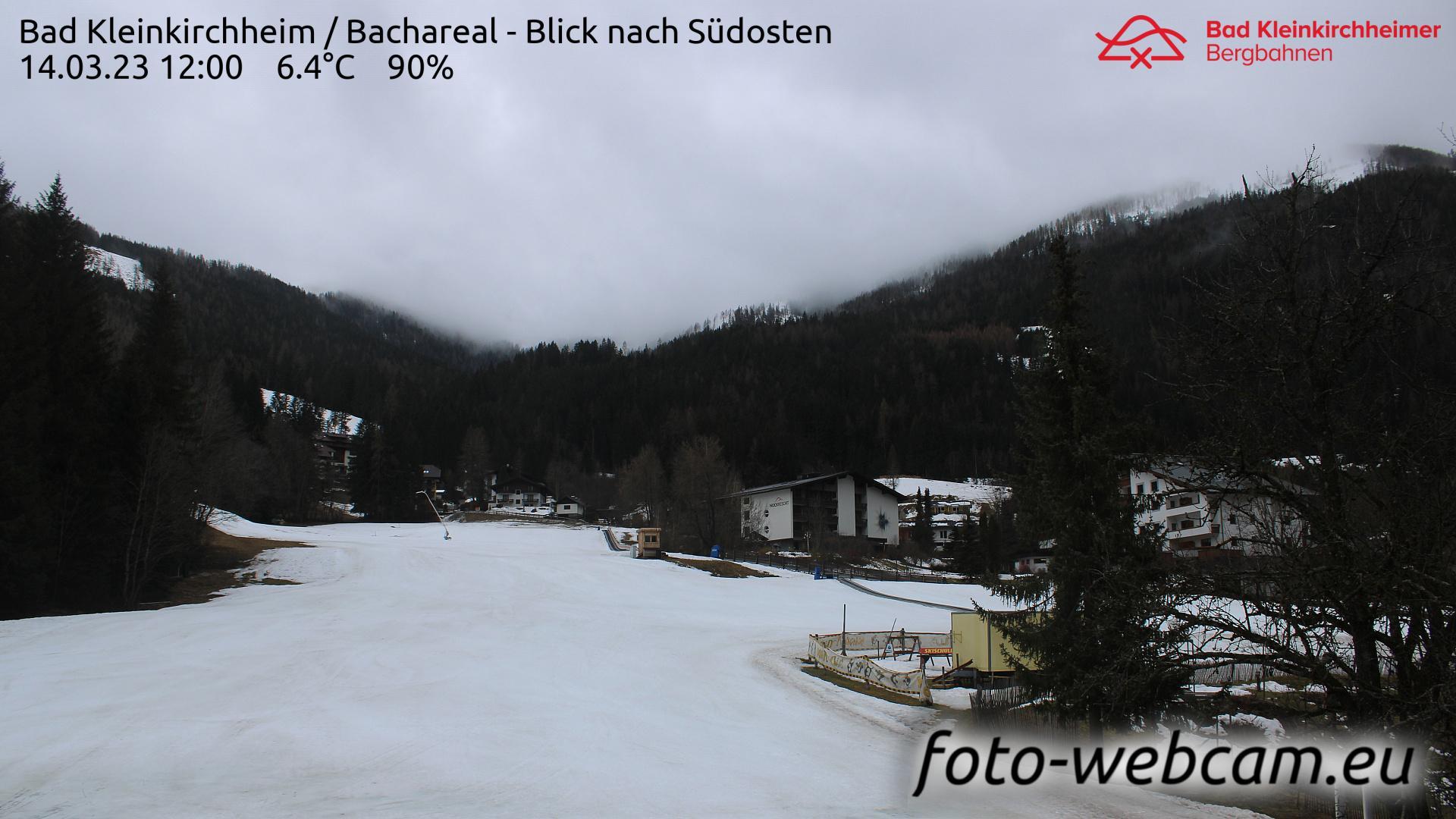 Webcam Bach: Bad Kleinkirchheim − Bachlift − Blick nach S