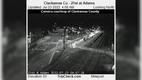 Webcam Milwaukie: Clackamas Co − 21st at Adams