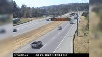 View Royal > West: , Hwy , northbound, near the - Colwood exit, looking west - Dia