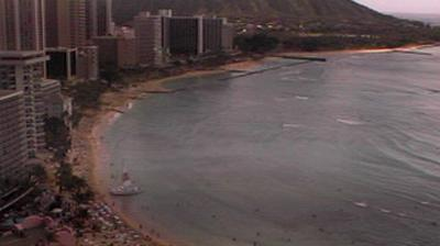 Daylight webcam view from Honolulu: Beach