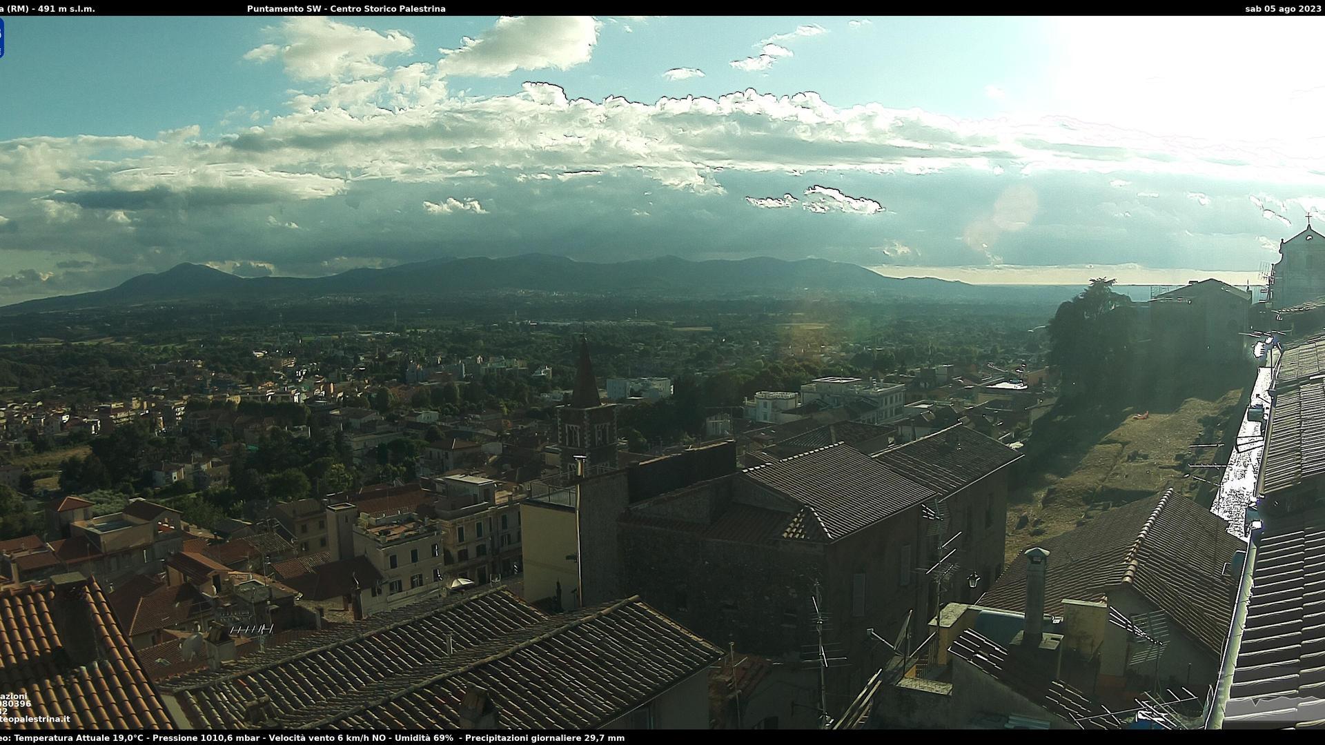 Webcam Frainili: Palestrina − Campagna Romana − Roma