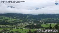 Ultima vista de la luz del día desde Dellach im Drautal: Blick nach Norden