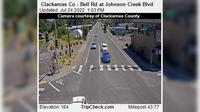 Rivergrove: Clackamas Co - Bell Rd at Johnson Creek Blvd - El día