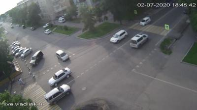 Уссурийск, перекресток Горького - Плеханова