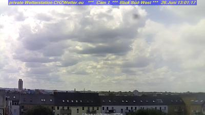 Daylight webcam view from Chemnitz › North East