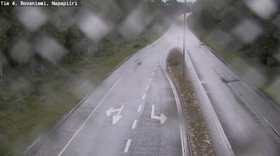 Vista de cámara web de luz diurna desde Rovaniemi: Tie 4 − Napapiiri − Sodankylään