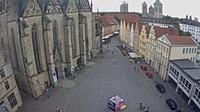 Osnabr�ck: Blick auf den Marktplatz vom Rathaus - Dagtid