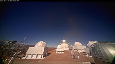 Vista de cámara web de luz diurna desde Piedras Blancas: Cerro Tololo Webcam