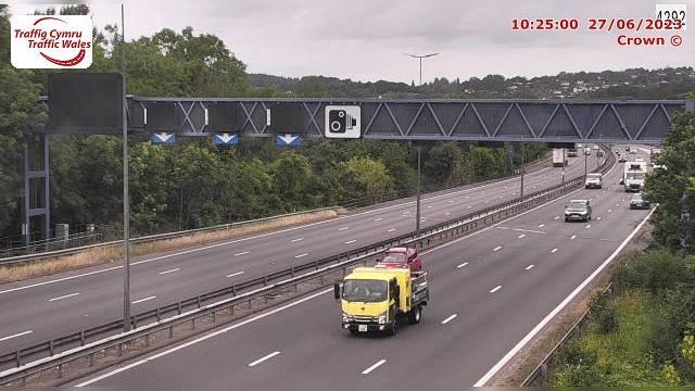 Webkamera Bassaleg: Newport − M4 westbound at junction 28 (T
