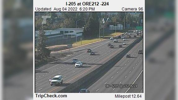 Webcam Clackamas: I-205 at ORE212 -224
