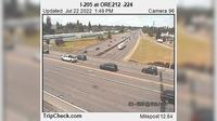 Last daylight view from Clackamas: I 205 at ORE212 224