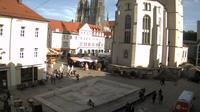 Regensburg › North-East: Neupfarrplat: Dani-Karavan-Denkmal - Day time