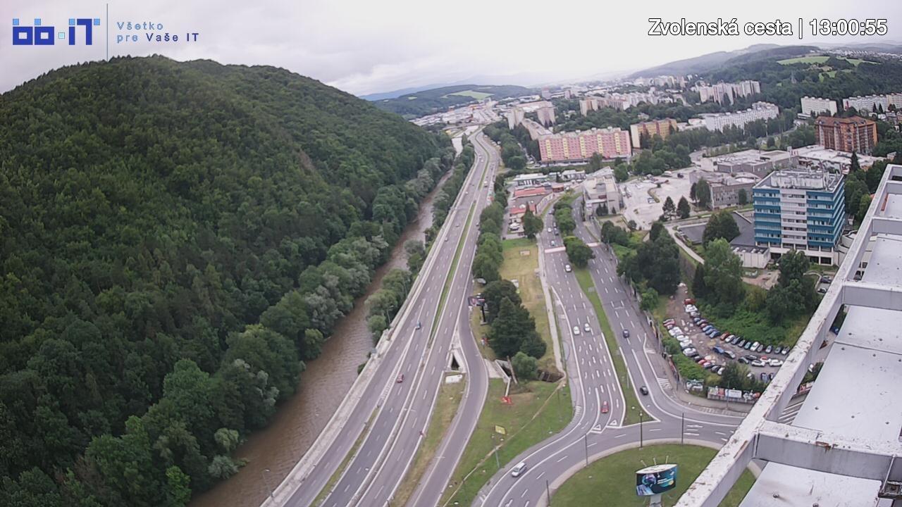 Webkamera Banská Bystrica › South: Zvolenská cesta