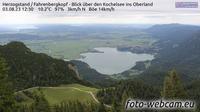Walchensee: Herzogstand - Fahrenbergkopf - Blick über den Kochelsee ins Oberland - Overdag
