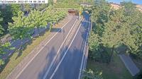 Stockholm: Talltunneln mynning (Kameran är placerad vid infarten till Södra länken från Gullmarsplan. Till höger om tunnelmynningenses trafik på väg till Årsta på Johanneshovsvägen)