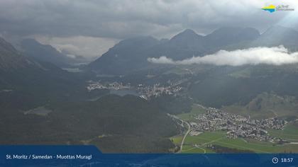 Sankt Moritz: St. Moritz - Muottas Muragl, Blick Richtung Corviglia