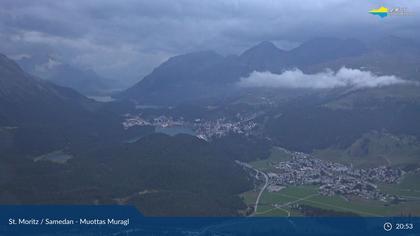 Sankt Moritz: Muottas Muragl, Blick Richtung Corviglia