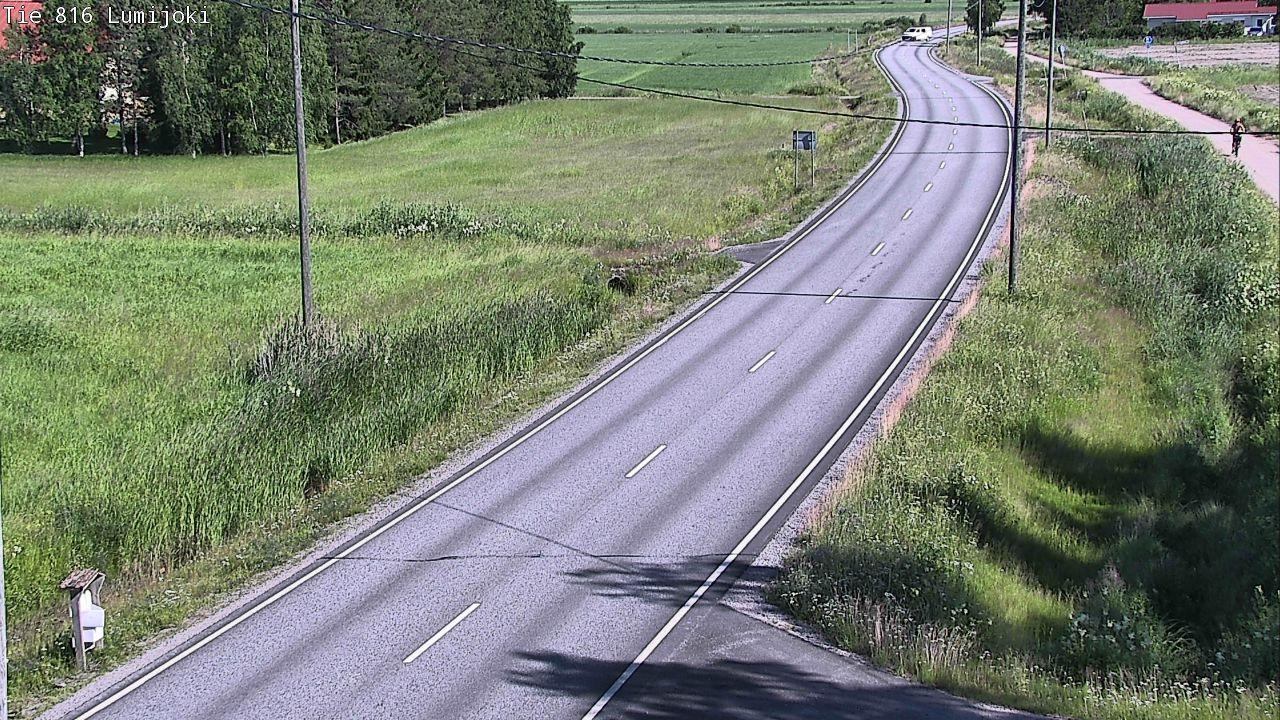 Webcam Lumijoki: Tie 813 − Liminkaan