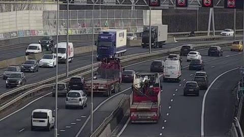 Webkamera Overschie: A13/A20 Kleinpolderplein