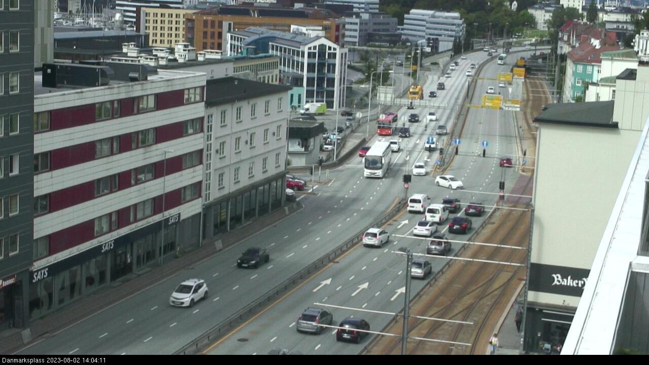 Webcam Bergen: Danmarks plass