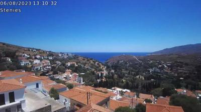 Vue webcam de jour à partir de Στενιαί › North East: Stenies
