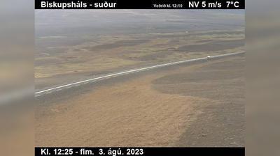 Vista de cámara web de luz diurna desde Úlfstaðir: Jökulsá á Dal