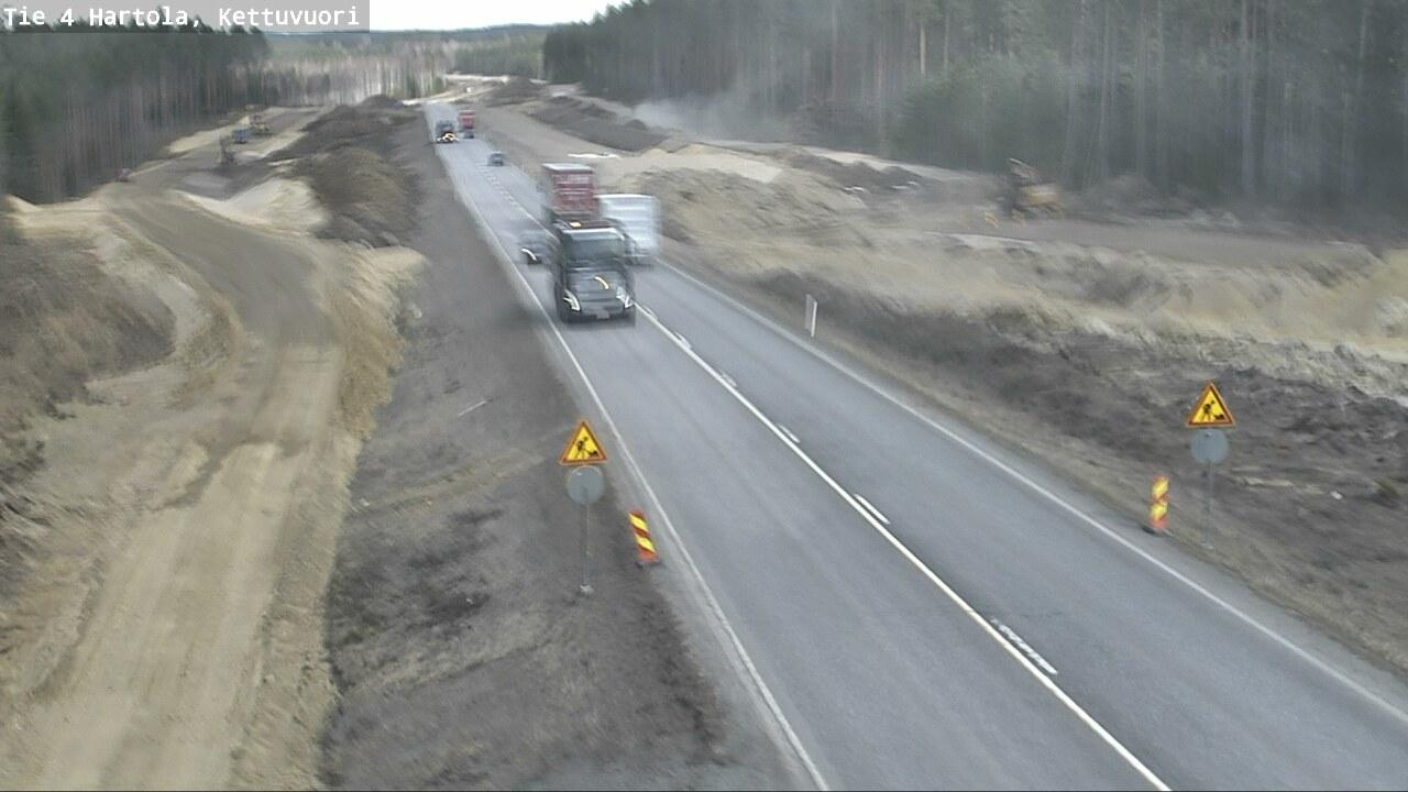Webcam Hartola: Tie 4 − Kettuvuori − Jyväskylään
