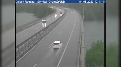 Vue webcam de jour à partir de Bohova: A1/E57, Maribor − Ljubljana, odsek Rogoza − Slivnica (Gramoznica)