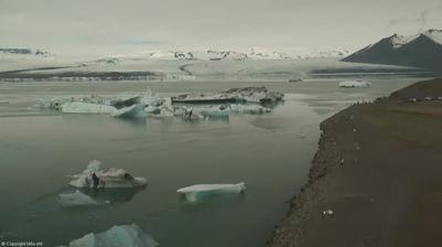 Daylight webcam view from Jökulsárlón › North: Jökulsárlón Iceberg Lagoon
